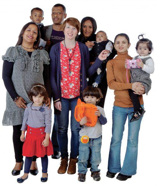 Volunteers and families